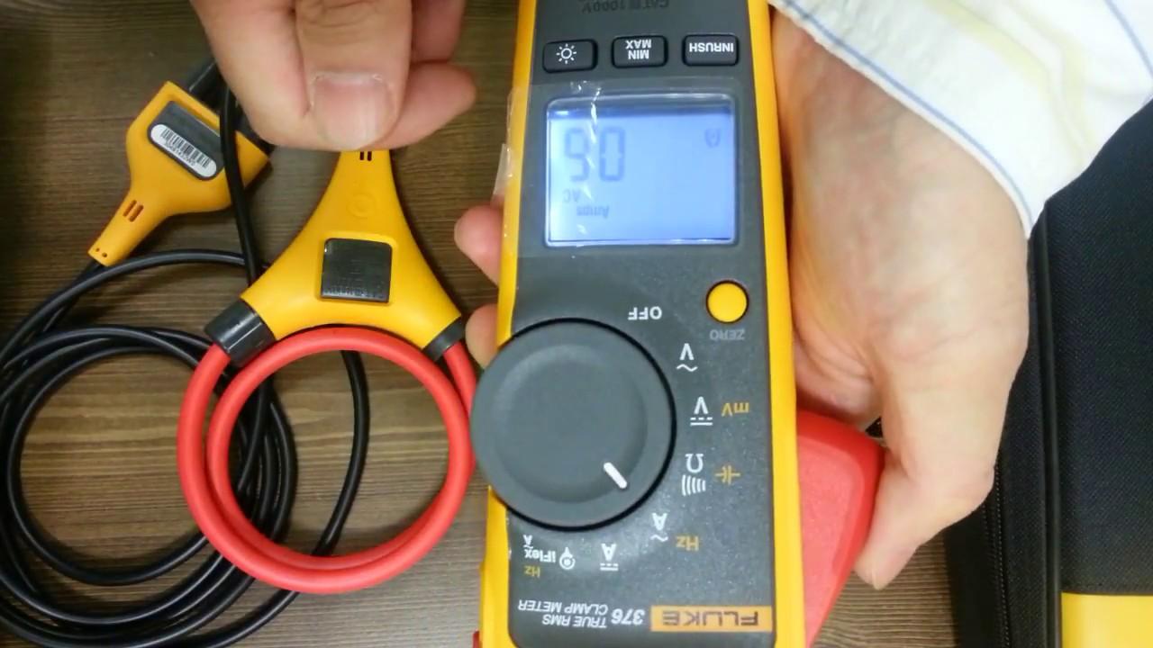 fluke 376 true rms ac dc clamp meter with iflex youtube rh youtube com fluke 376 manual pdf fluke 376 service manual