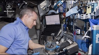 Maintenance on the Combustion Integrated Rack aboard the International Space Station