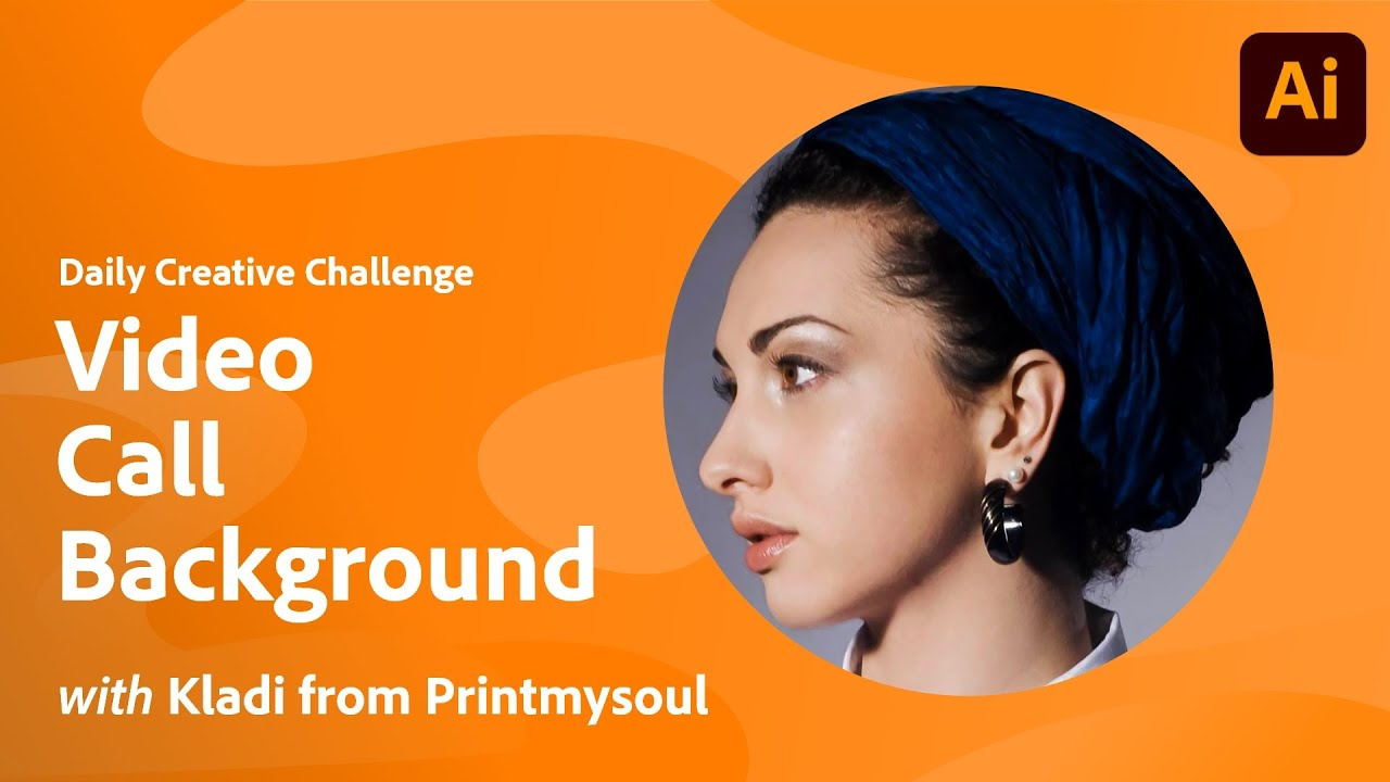 Illustrator Daily Creative Challenge - Video Call Background