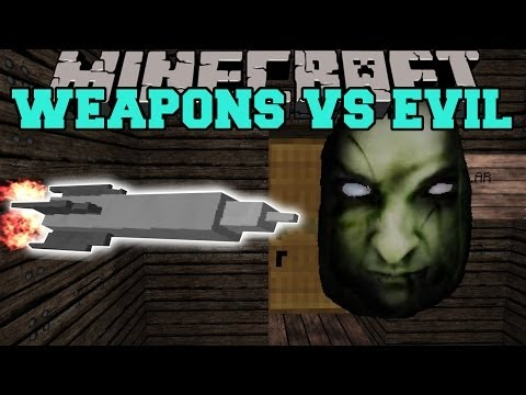 WEAPONS+ MOD VS THE ORPHANAGE MAP - Minecraft Mods Vs Maps (Rocket Launcher & Missles)
