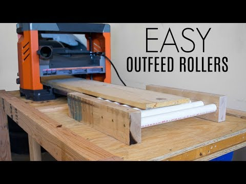EASY Outfeed Rollers | Woodworking Store Challenge
