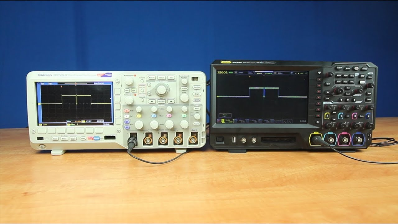 Sampling Comparison of the MSO5000 VS the MSO2000B