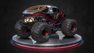 Wonder Woman Monster Jam truck