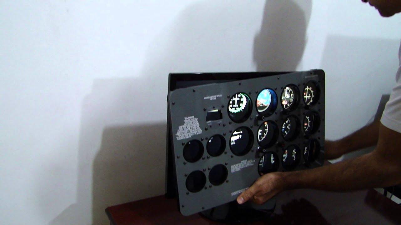 Front Panel C172 - Flight Training by Macbare Cockpits