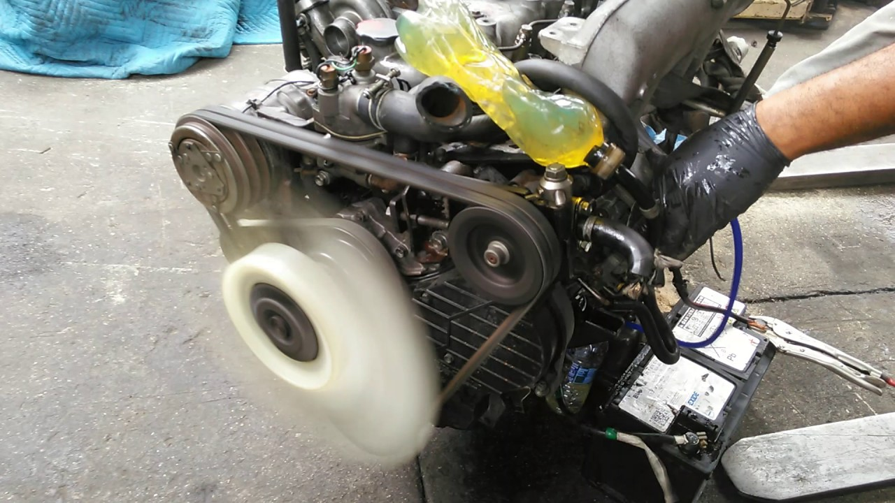 jdm isuzu trooper 2.8l 4jb1 turbo diesel engine stock #000 - youtube