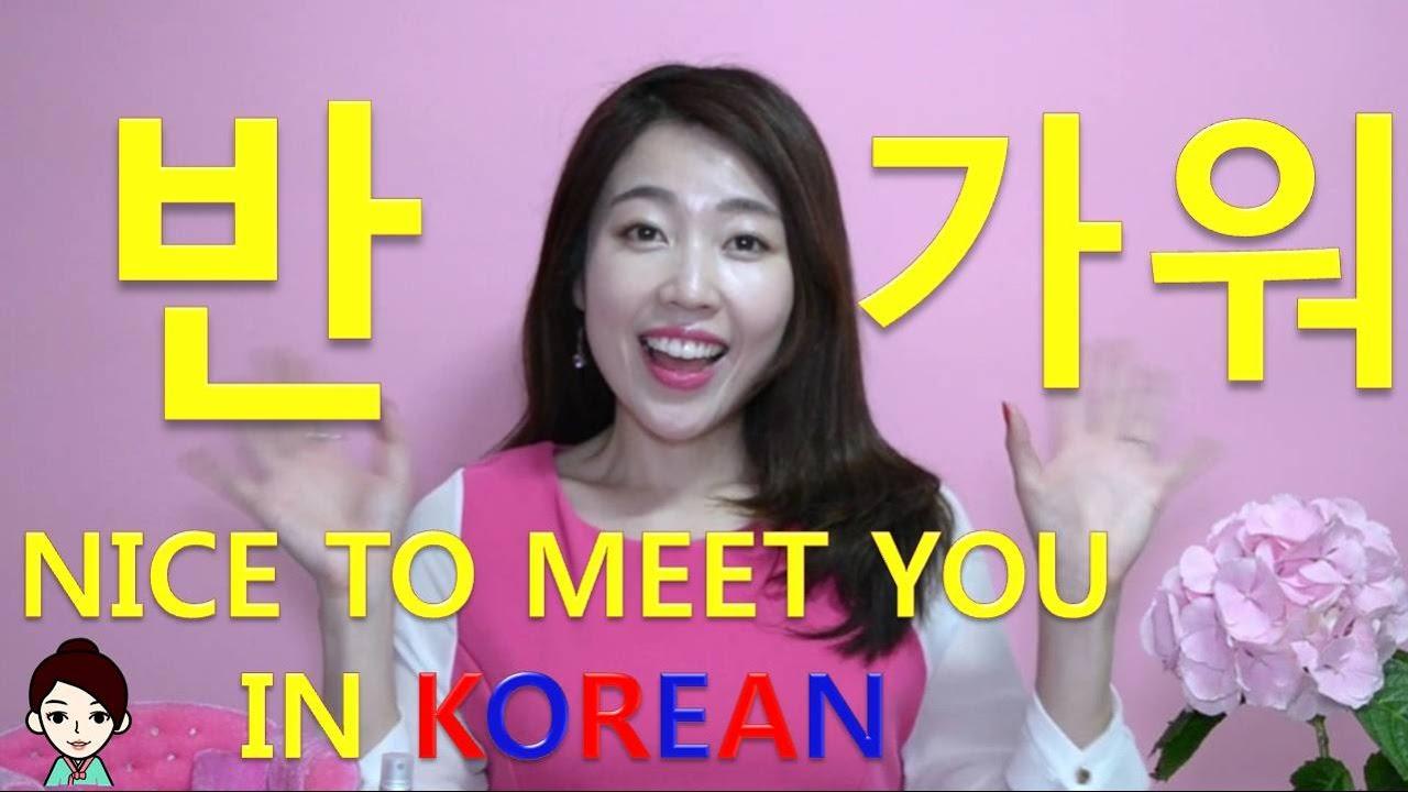 Three Ways Of Saying Nice To Meet You In Korean Informalformal