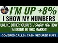 I'm BEATING the stock market Writing Covered Calls and Selling Cash Secured Puts