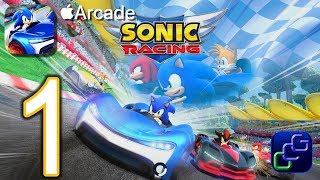 SONIC Racing Apple Arcade Gameplay Part 1 - Seaside Hill, Range Roofs, Planet Wisp