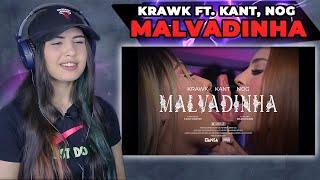 Krawk ft. Kant, Nog - MALVADINHA (Clipe Oficial) [REACT Mah Moojen]