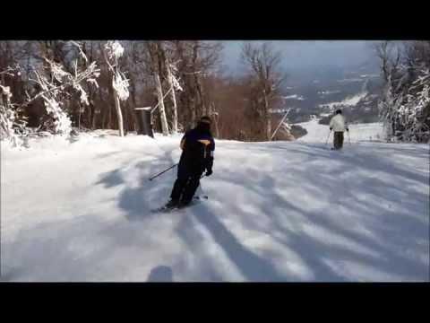 Mt. Wachusett - Skiing Smith Walton trail 01-04-13