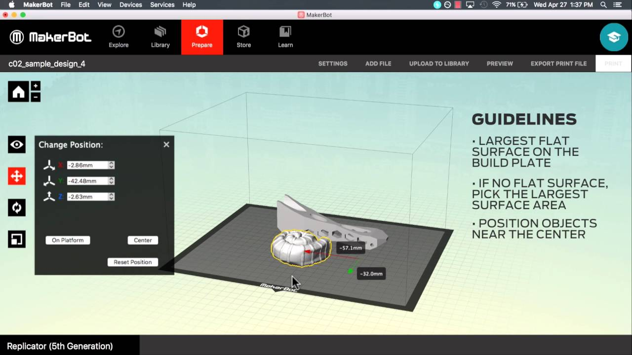How to Prepare a Model for Printing | MakerBot Desktop