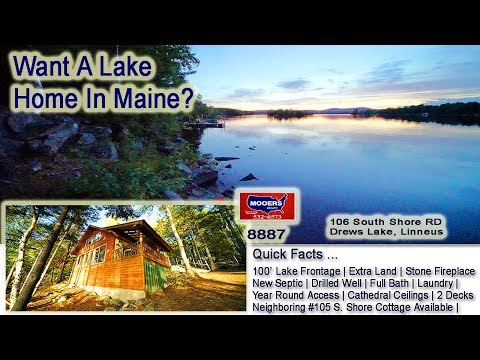 Lake Homes In Maine For Sale | Video 106 South Shore Drews Lake MOOERS REALTY #8887