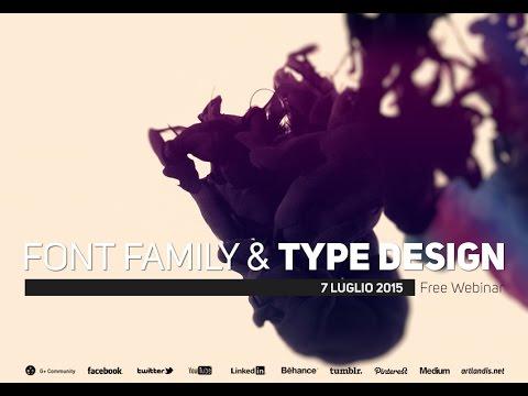 Font Family & Type Design (free webinar)