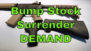 Bump Stock Surrender DEMAND