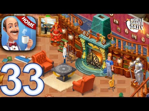 HOMESCAPES Story Walkthrough Gameplay Part 33 - Day 24 Living Room (iOS Android)