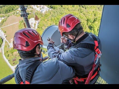 Telecom Kabelzug am St. Chrischona Turm in Basel und FTTX Glasfaserkabel in Zürich  (Untertitel DE)