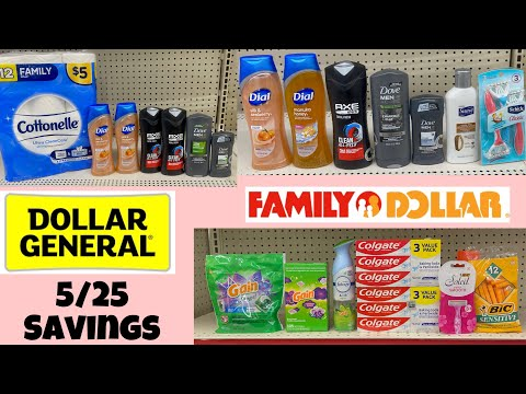 Dollar General & Family Dollar 5/25 Savings!! Over $60 in Savings 🔥 English & Español ❤️