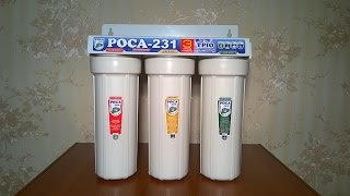Заводской фильтр питьевой воды РОСА-231 распаковка и обзор.