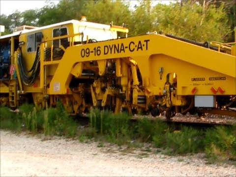 Union Pacific Maintenance Machines Leave Siding In Ames