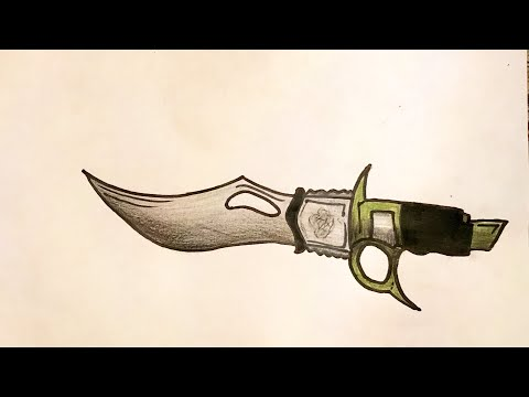 Av bıcağı nasıl çizilir l kolay resim çizme