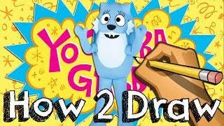 How To Draw TooDee From Yo Gabba Gabba | Drawing & Coloring & Learning | JUNIORS TOONS