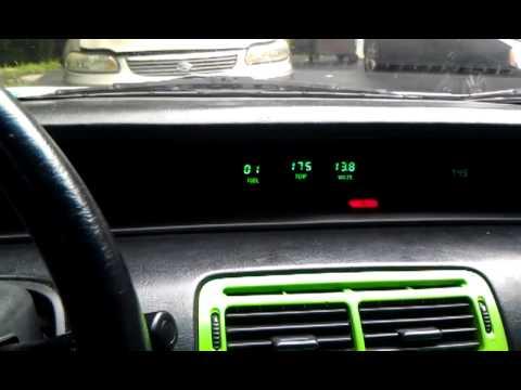 Intellitronix Green Gauges In 92 Honda Prelude