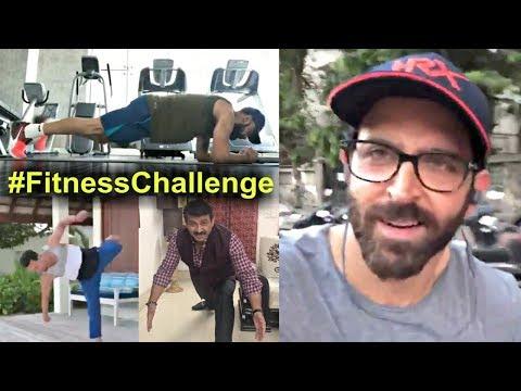 Fitness Challenge  Hrithik Roshan, Virat Kohli, Tiger Shroff, Manoj Tiwari, Babita Phogat