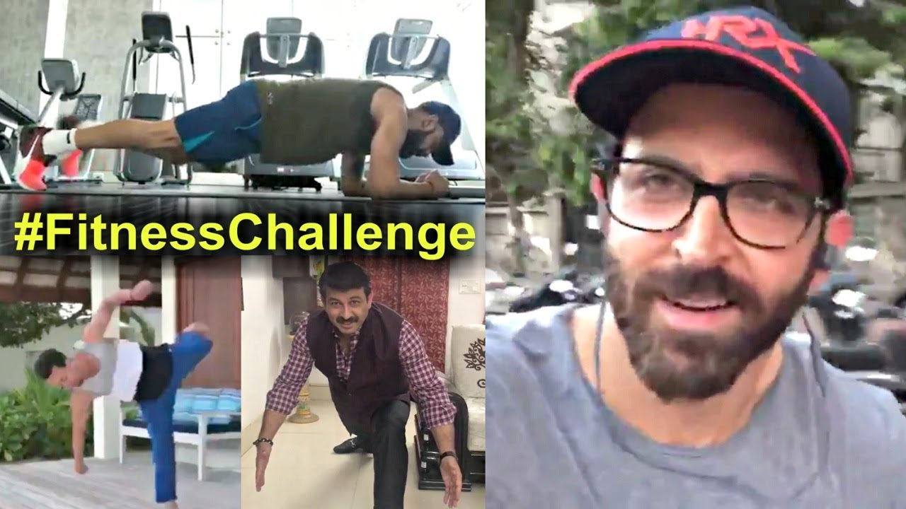 Fitness Challenge - Hrithik Roshan, Virat Kohli, Tiger Shroff, Manoj Tiwari, Babita Phogat