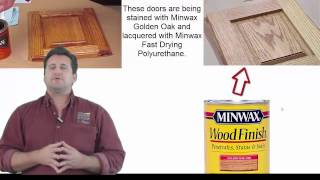 Step by Step process of staining and lacquering cabinet doors