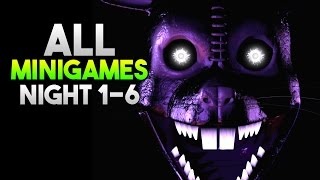 Five Nights at Candy's 3 All Minigames Night 1 - 6 (STORY) True Ending
