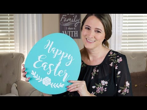 DIY EASTER SIGN USING VINYL AND SILHOUETTE CAMEO