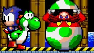 Yoshi in Sonic 2 - All Bosses (No Damage)