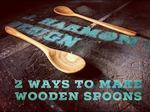 2 Ways To Make Wooden Spoons