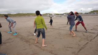 Patintero (Traditional Fiipino Game) @ Banna Beach, Tralee