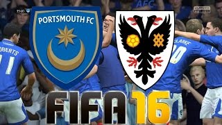 FIFA 16 Portsmouth FC vs AFC Winbledom in Fratton Park (1080p 60fps)