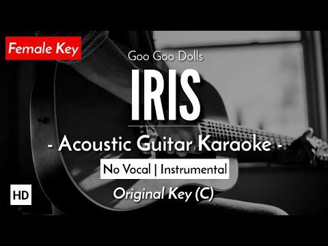 [FEMALE KARAOKE] Iris - Goo Goo Dolls [Acoustic Guitar + Lyric]