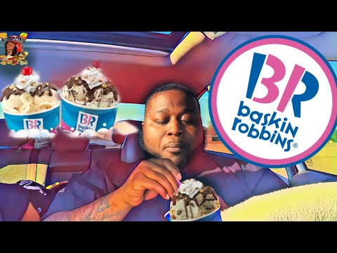 Baskin Robbins Double Scoop Fudge Sundae  MUKBANG | Eating Show | 먹방 먹기