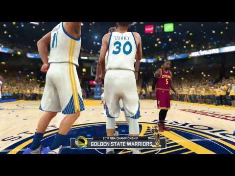 8539c35d GOLDEN STATE WARRIORS NBA CHAMPIONSHIP CELEBRATION IN NBA 2K - YouTube