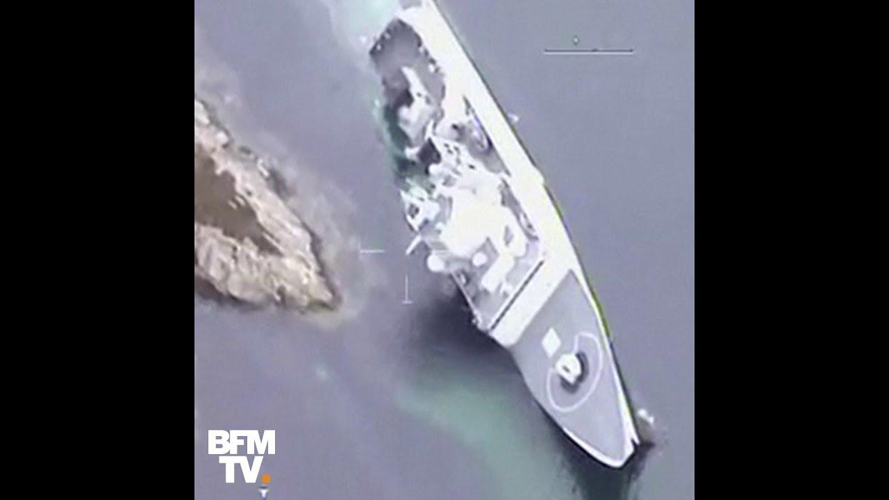 Une frégate de la marine norvégienne chavire au large de Bergen
