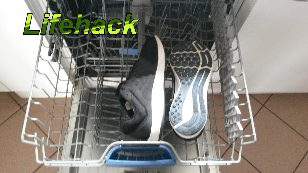 schuhe in die spülmaschine