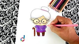 Cómo dibujar una Abuelita (ancianita) paso a paso | How to draw a Granny (old lady)