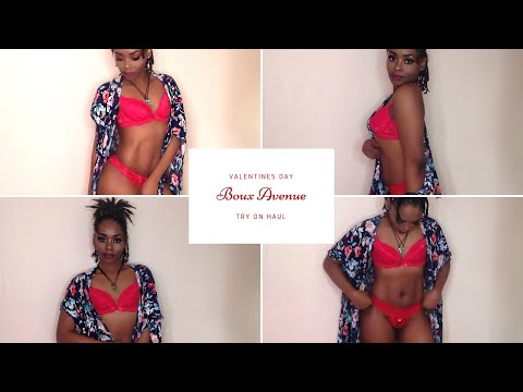 Boux Avenue First Impressions Lingerie try on haul - VALENTINES DAY IDEAS 2018