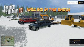 Farming Simulator 2015- Hauling In the Snow!