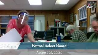 Pownal Select Board // 08/27/20