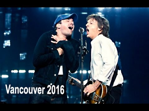 Paul McCartney Live in Vancouver Rogers Arena, April 20, 2016 Full concert HD Best Available Super!