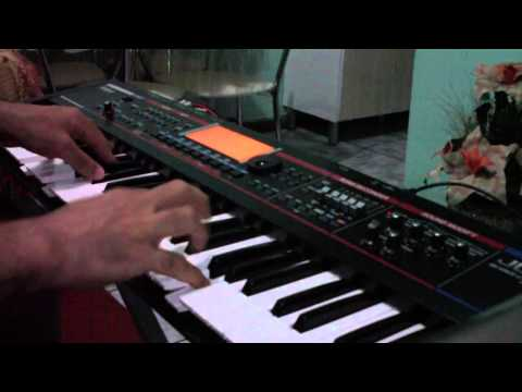 Roland Juno G com multisample do Yamaha S90ES