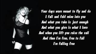 Madonna - Falling Free Karaoke / Instrumental with lyrics on screen