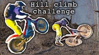 Hill climb challenge in an abandoned quarry