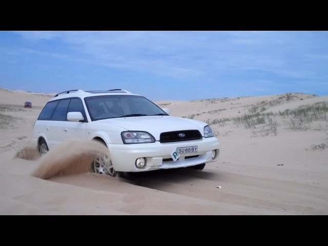 Subaru Wagons Softroading on Stockton Beach