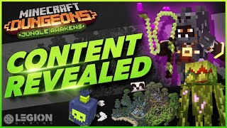 Minecraft Dungeons Jungle Awakens DLC | NEW Items, Enemies, Images, And Release Date!